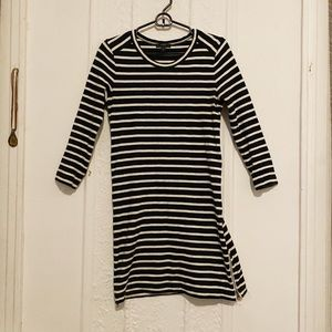Striped dress with zippers!